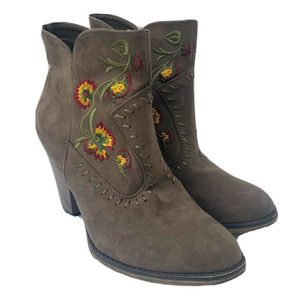 MIA Melrose Ankle Boot Size 7.5M Embroidered EUC